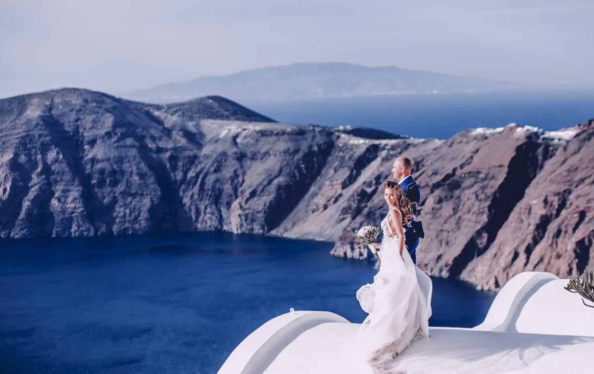 Екатерина и Артем: свадьба на санторини, свадебное агентство Julia Veselova - Фото 16