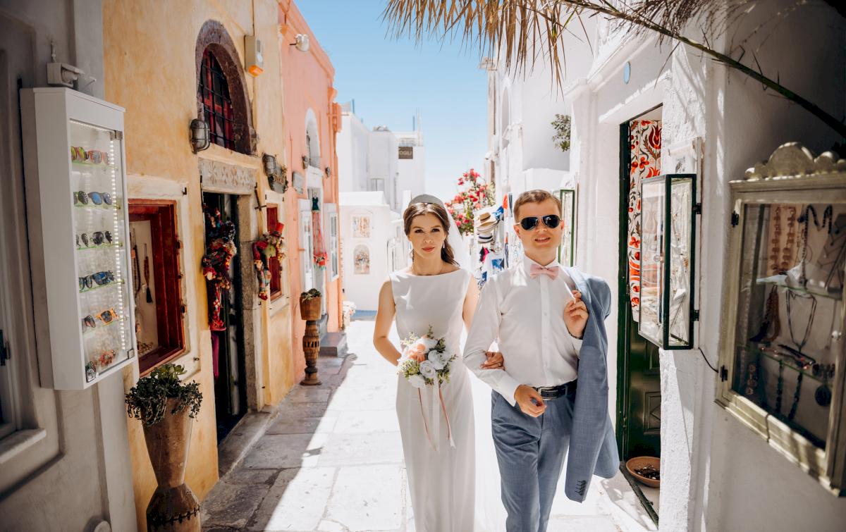 Алексей и Ольга: свадьба на санторини, свадебное агентство Julia Veselova - Фото 16