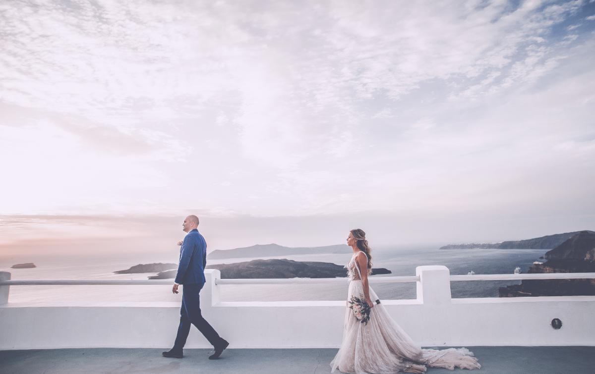 Екатерина и Артем: свадьба на санторини, свадебное агентство Julia Veselova - Фото 17