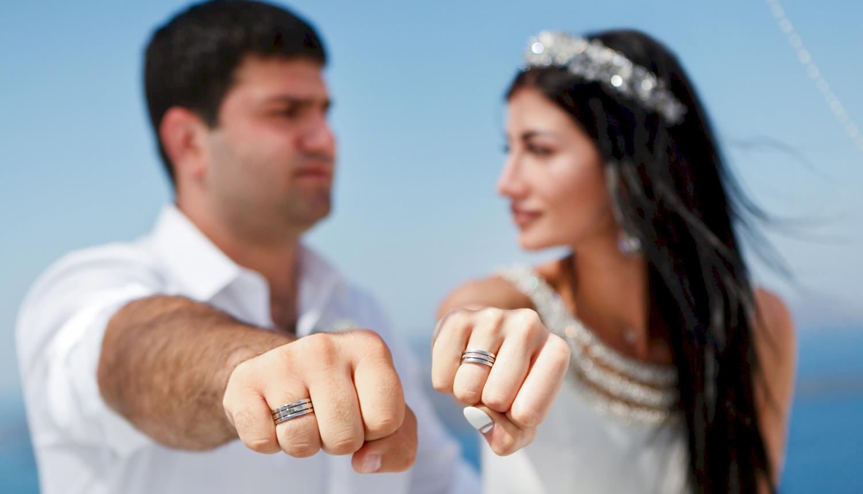 Зарина и Ованес: свадьба на санторини, свадебное агентство Julia Veselova - Фото 9