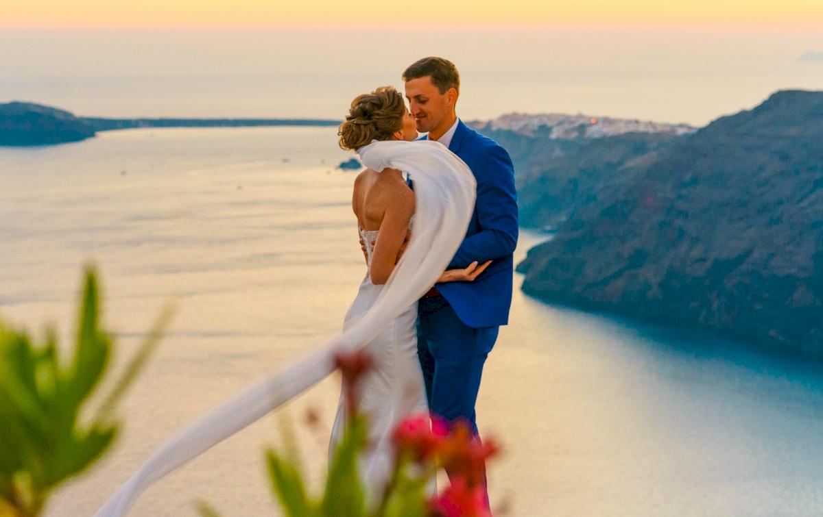 Алена и Рома: свадьба на санторини, свадебное агентство Julia Veselova - Фото 12