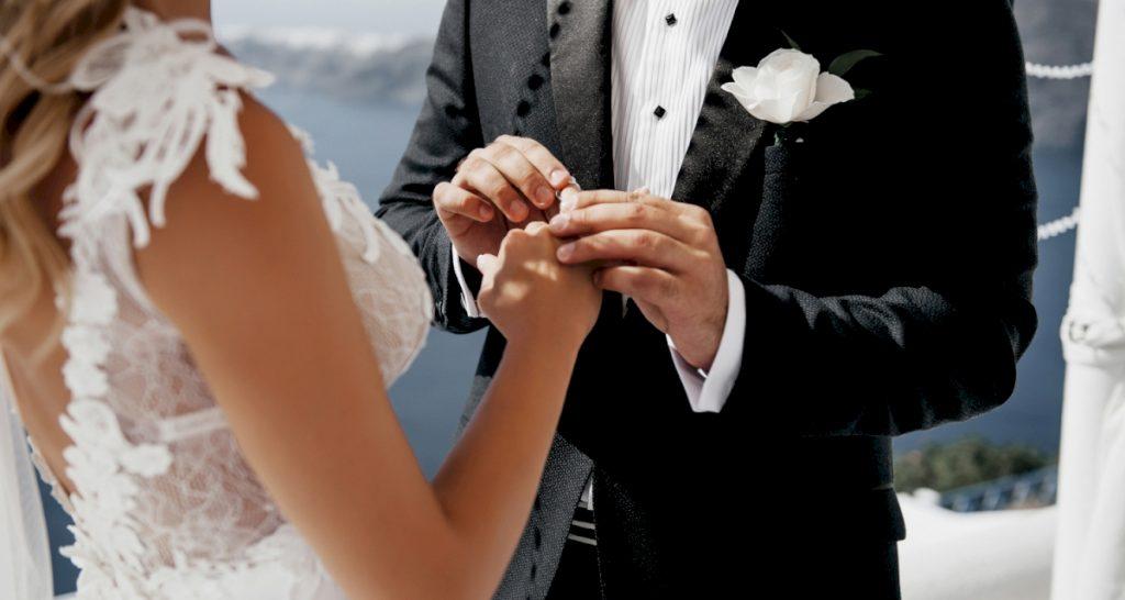 Регистрация брака на острове Санторини
