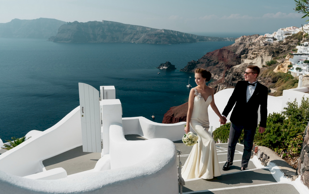 Любовь и Антон: свадьба на санторини, свадебное агентство Julia Veselova - Фото 1