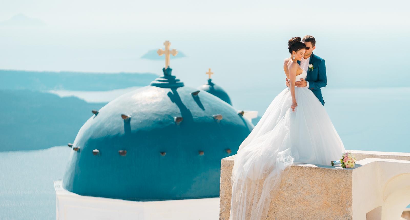 Яна и Денис: свадьба на санторини, свадебное агентство Julia Veselova - Фото 5