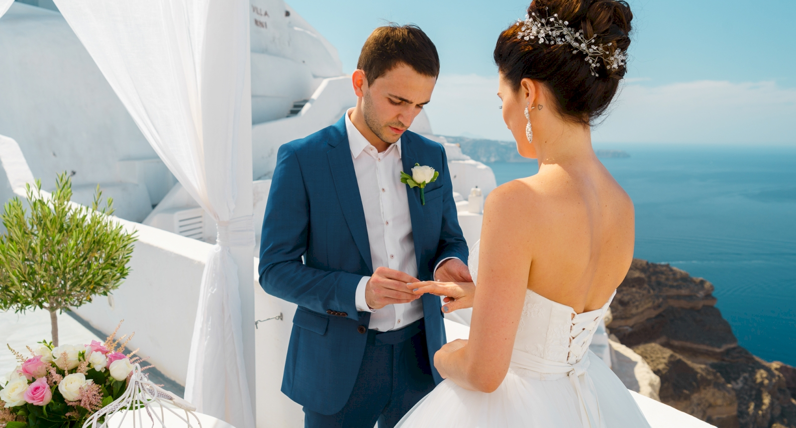 Яна и Денис: свадьба на санторини, свадебное агентство Julia Veselova - Фото 1