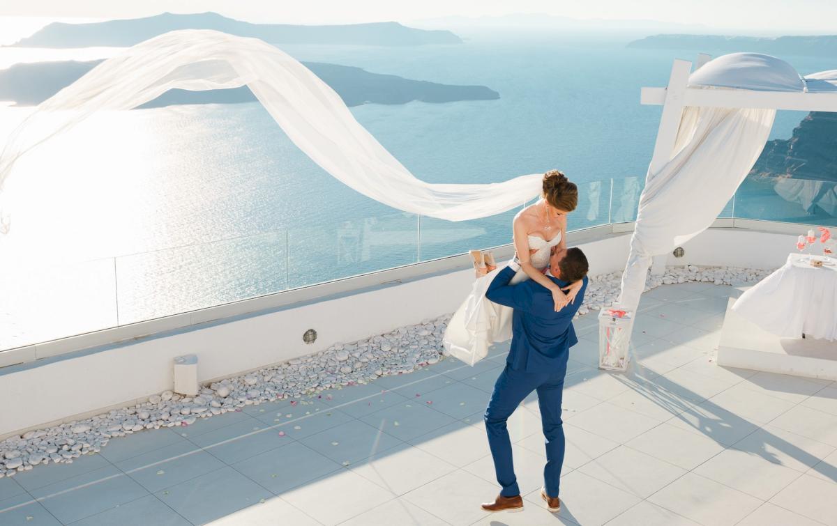 Алена и Рома: свадьба на санторини, свадебное агентство Julia Veselova - Фото 15