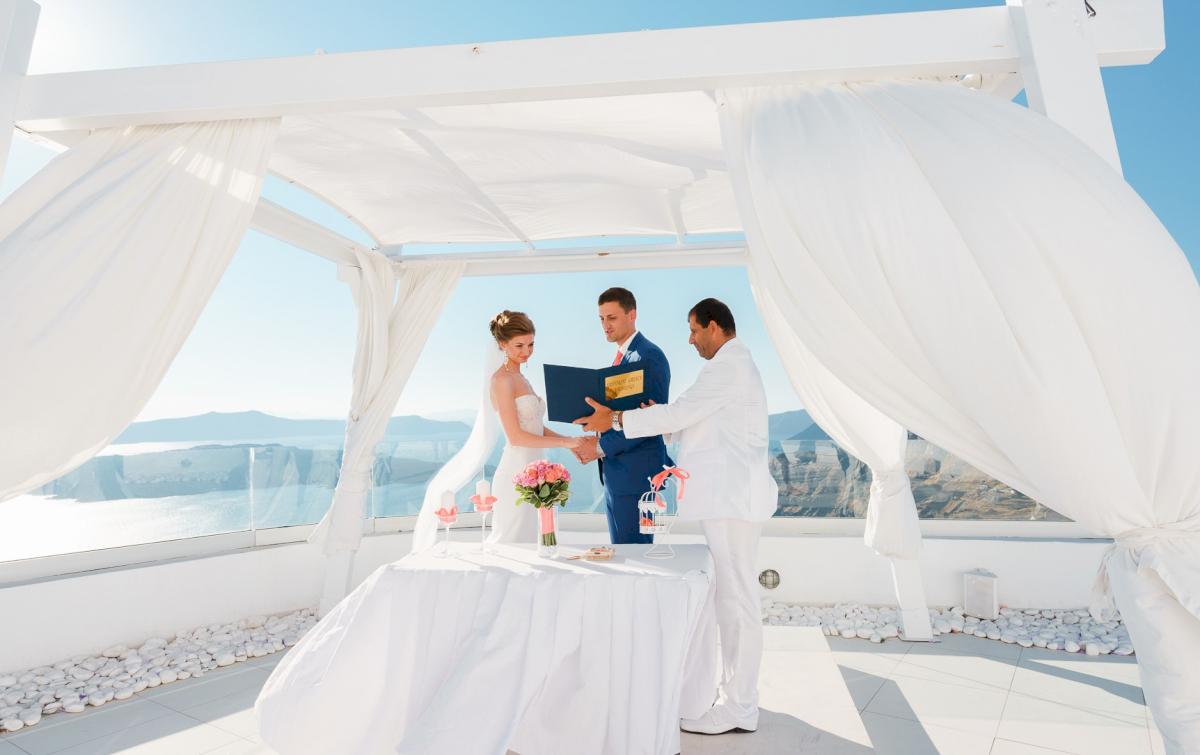 Алена и Рома: свадьба на санторини, свадебное агентство Julia Veselova - Фото 9