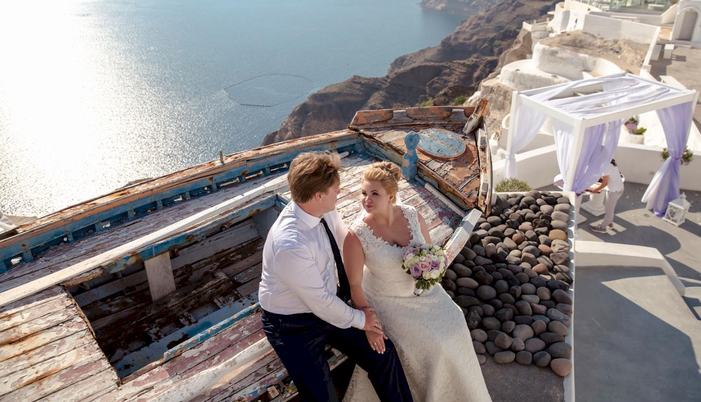 Дарья и Яков: свадьба на санторини, свадебное агентство Julia Veselova - Фото 15