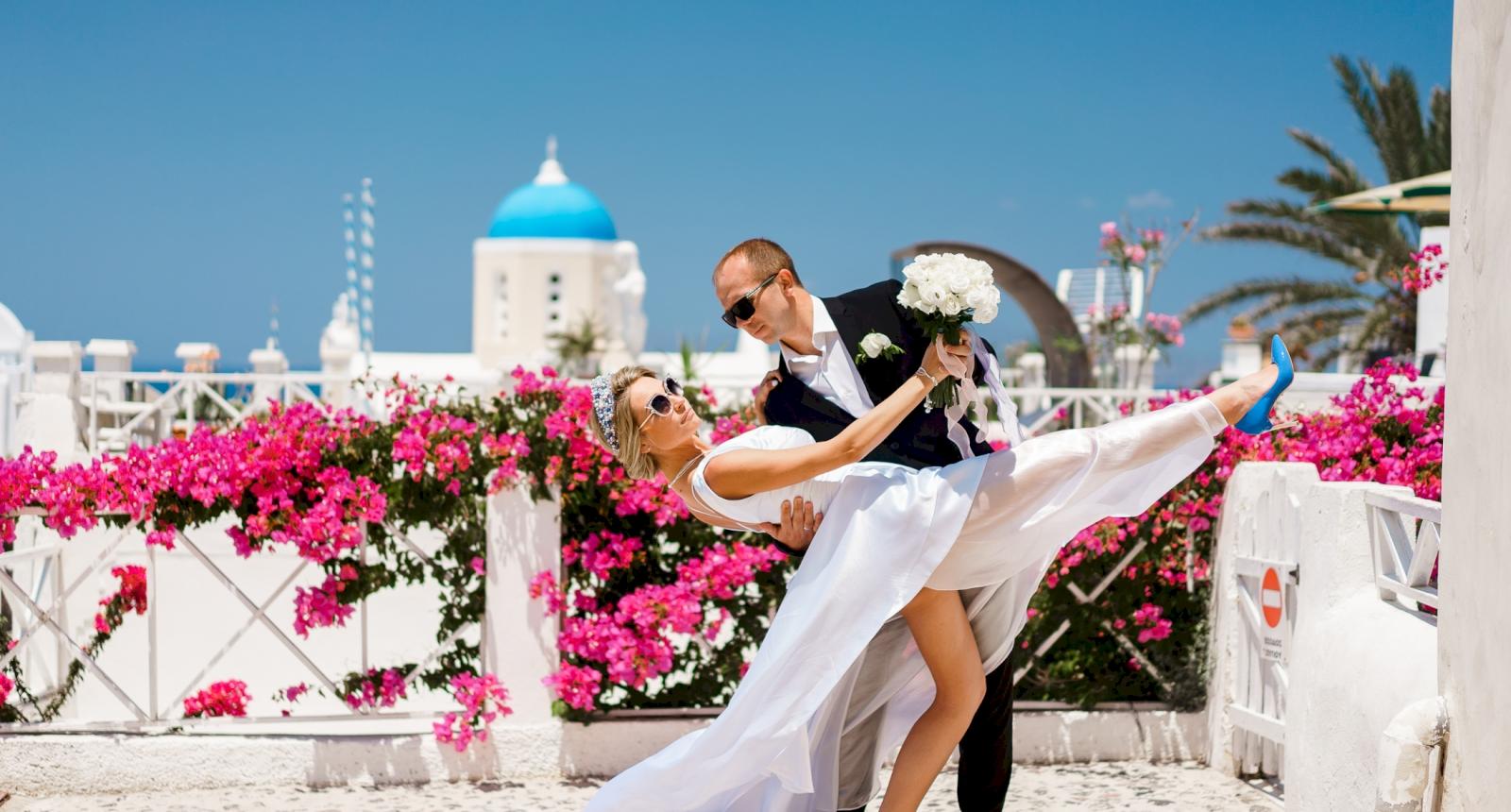 Елена и Олег: свадьба на санторини, свадебное агентство Julia Veselova - Фото 1