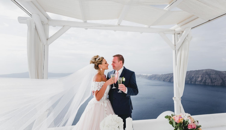 Darya & Jason: свадьба на санторини, свадебное агентство Julia Veselova - Фото 13