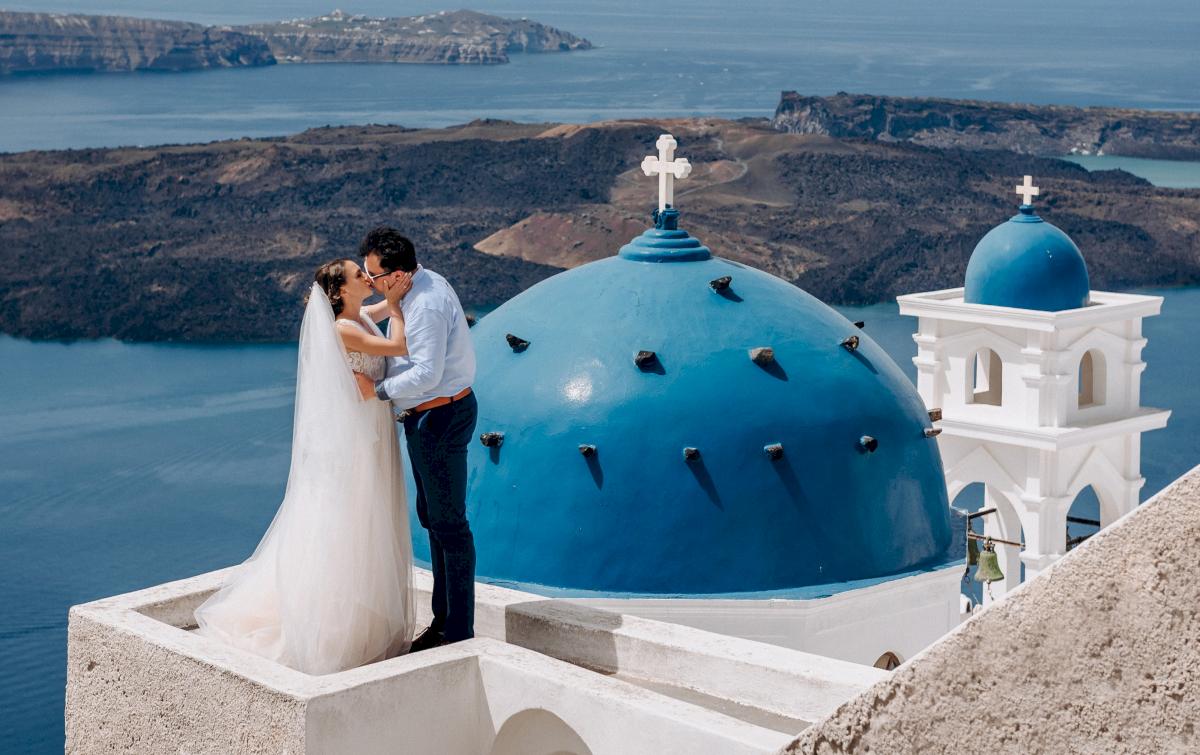Анна и Андрей: свадьба на санторини, свадебное агентство Julia Veselova - Фото 1