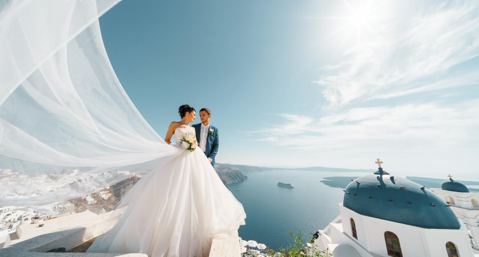 Яна и Денис: свадьба на санторини, свадебное агентство Julia Veselova - Фото 6