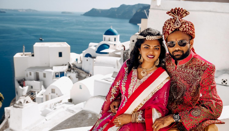 Deni and Kanshu: свадьба на санторини, свадебное агентство Julia Veselova - Фото 3