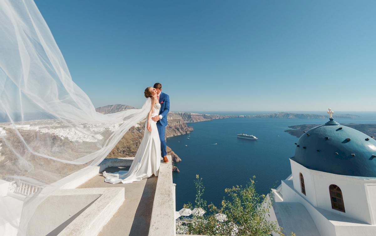 Алена и Рома: свадьба на санторини, свадебное агентство Julia Veselova - Фото 10