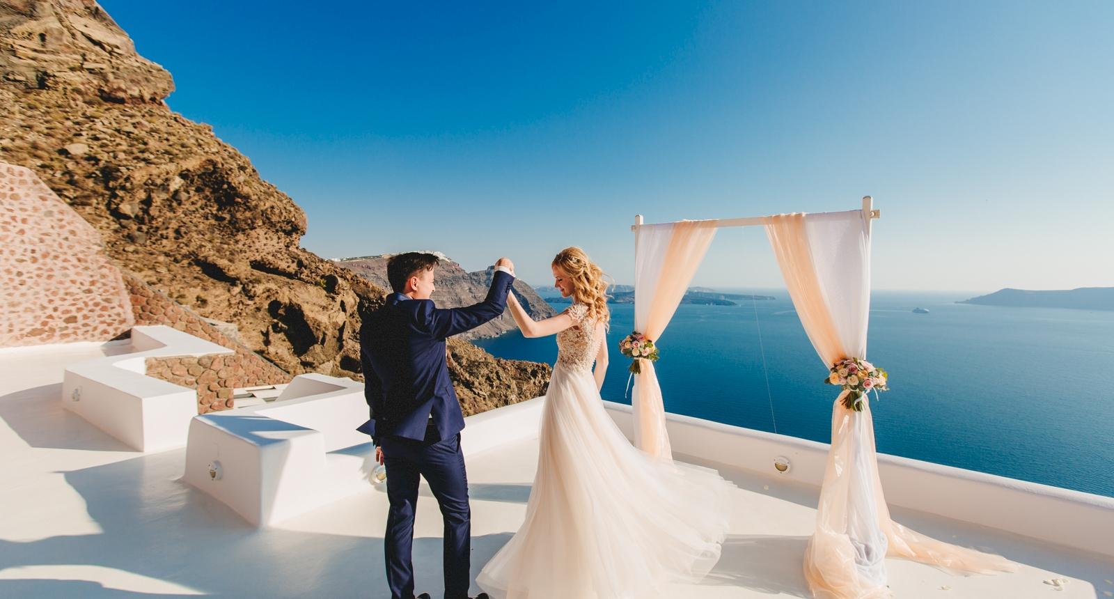 Анжелика и Роман: свадьба на санторини, свадебное агентство Julia Veselova - Фото 4