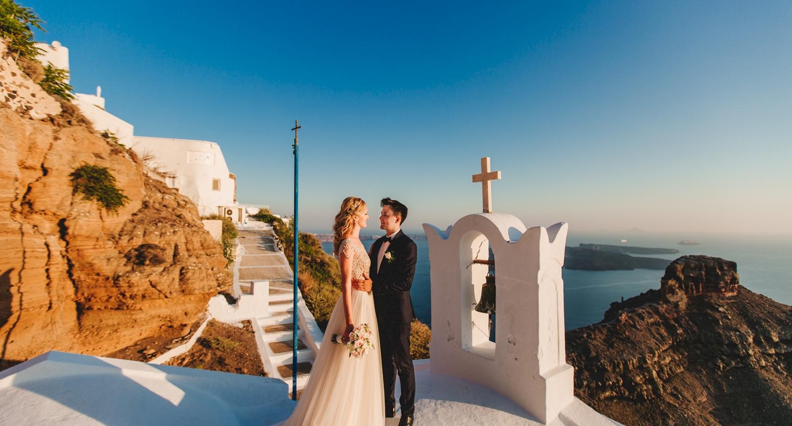Анжелика и Роман: свадьба на санторини, свадебное агентство Julia Veselova - Фото 6