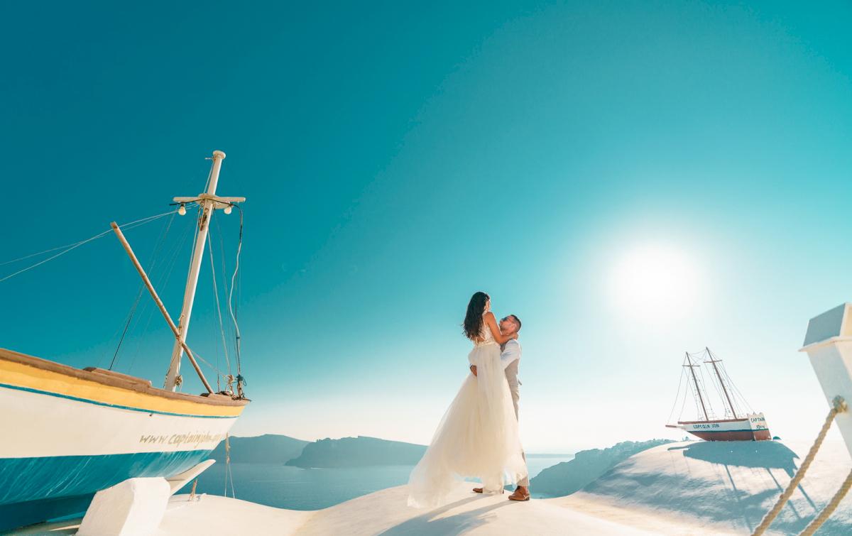 Яна и Рафаэль: свадьба на санторини, свадебное агентство Julia Veselova - Фото 1