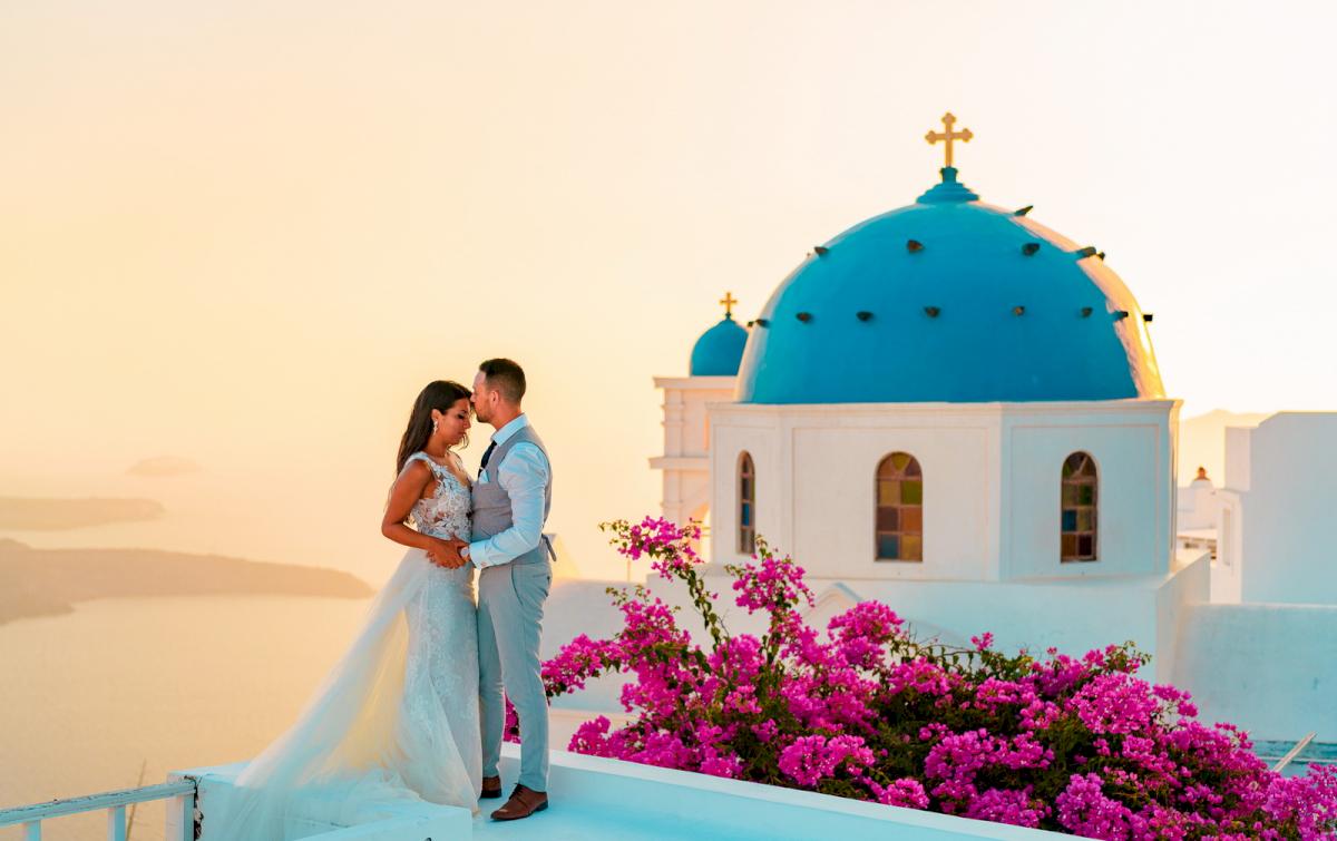 Яна и Рафаэль: свадьба на санторини, свадебное агентство Julia Veselova - Фото 4
