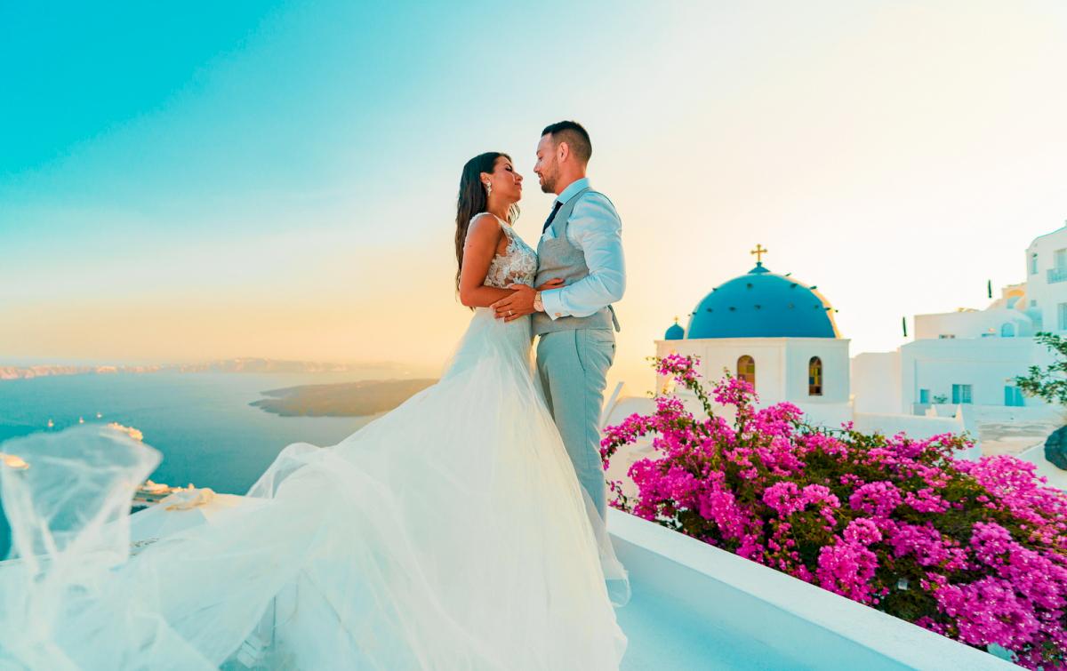 Яна и Рафаэль: свадьба на санторини, свадебное агентство Julia Veselova - Фото 3