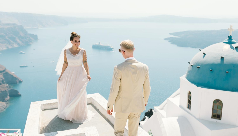 Алеся и Максим: свадьба на санторини, свадебное агентство Julia Veselova - Фото 4