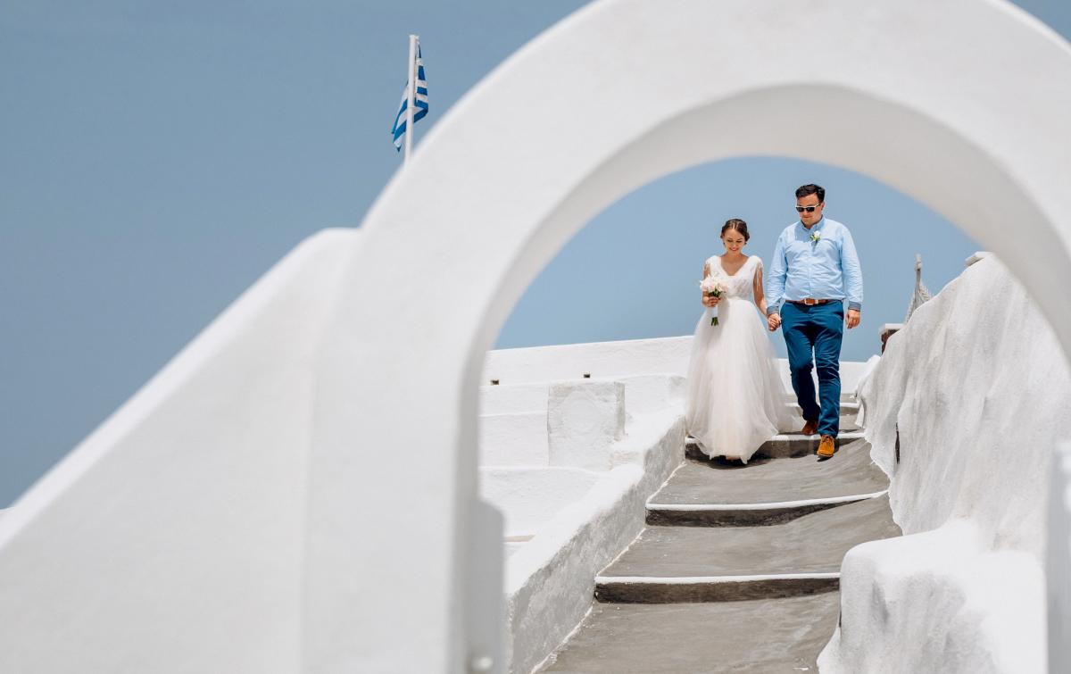 Анна и Андрей: свадьба на санторини, свадебное агентство Julia Veselova - Фото 8