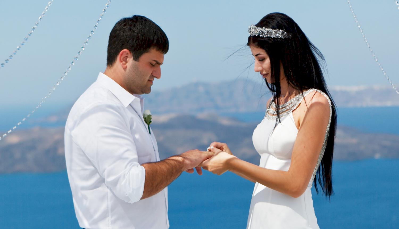 Зарина и Ованес: свадьба на санторини, свадебное агентство Julia Veselova - Фото 2