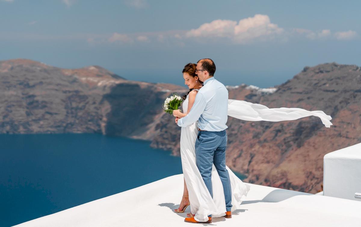 Ирина и Эдуард: свадьба на санторини, свадебное агентство Julia Veselova - Фото 2