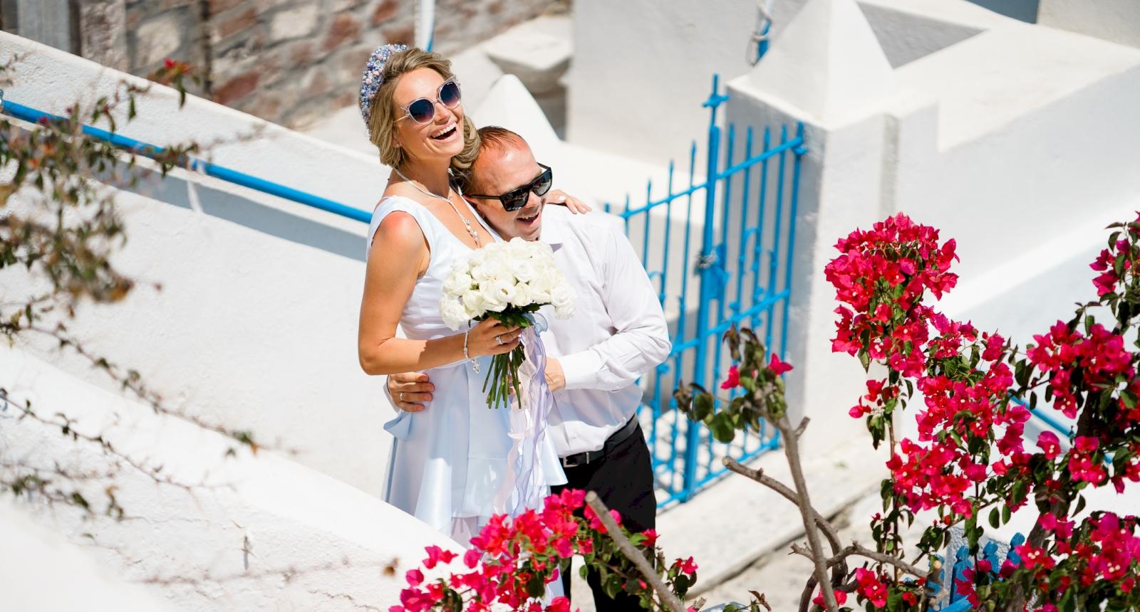 Елена и Олег: свадьба на санторини, свадебное агентство Julia Veselova - Фото 5