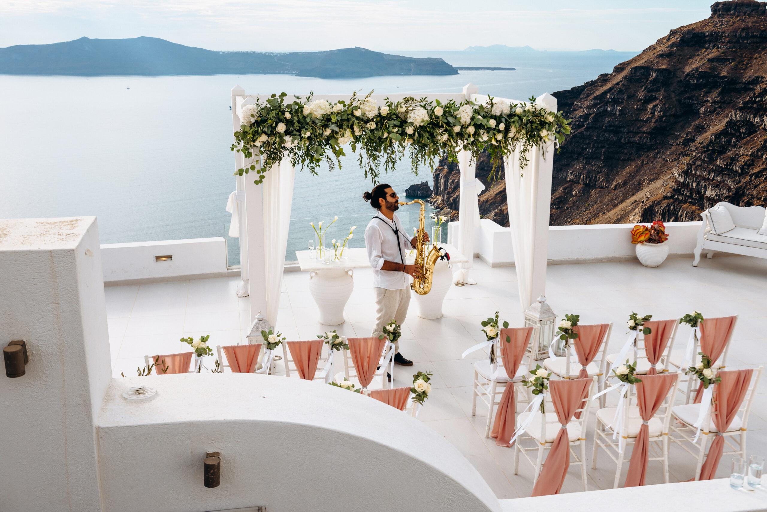 Музыкальное сопровождение: свадьба на санторини, свадебное агентство Julia Veselova - Фото 1