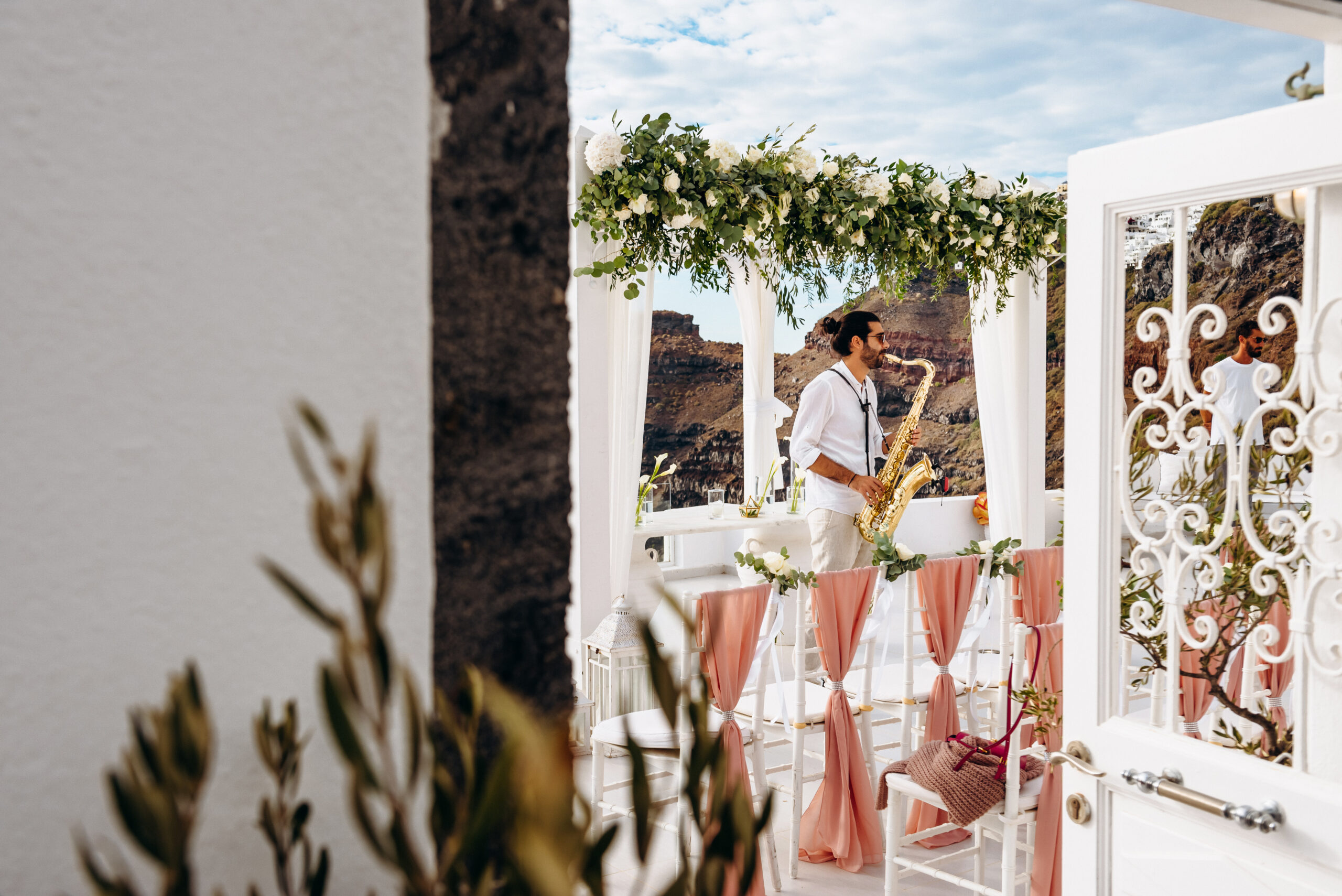 Площадка для свадеб Dana Villas Санторини