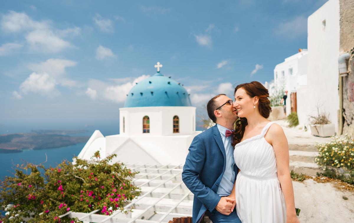 Ирина и Эдуард: свадьба на санторини, свадебное агентство Julia Veselova - Фото 10