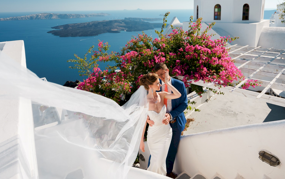 Алена и Рома: свадьба на санторини, свадебное агентство Julia Veselova - Фото 5