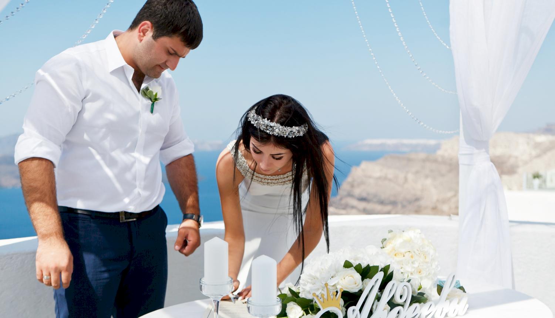 Зарина и Ованес: свадьба на санторини, свадебное агентство Julia Veselova - Фото 3