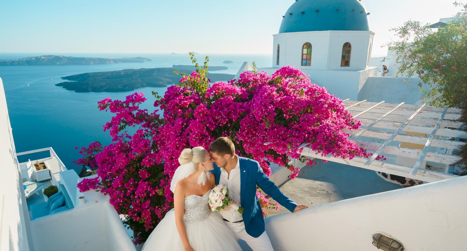 Екатерина и Дмитрий: свадьба на санторини, свадебное агентство Julia Veselova - Фото 2