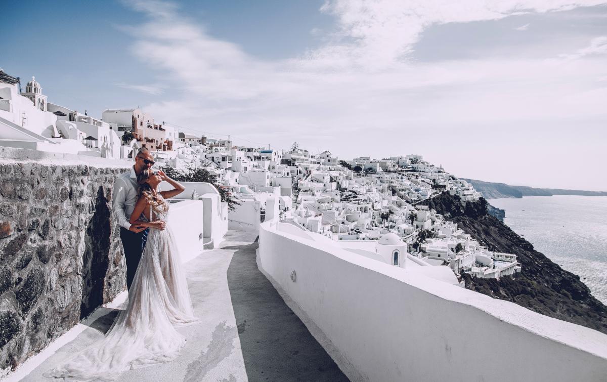 Екатерина и Артем: свадьба на санторини, свадебное агентство Julia Veselova - Фото 15