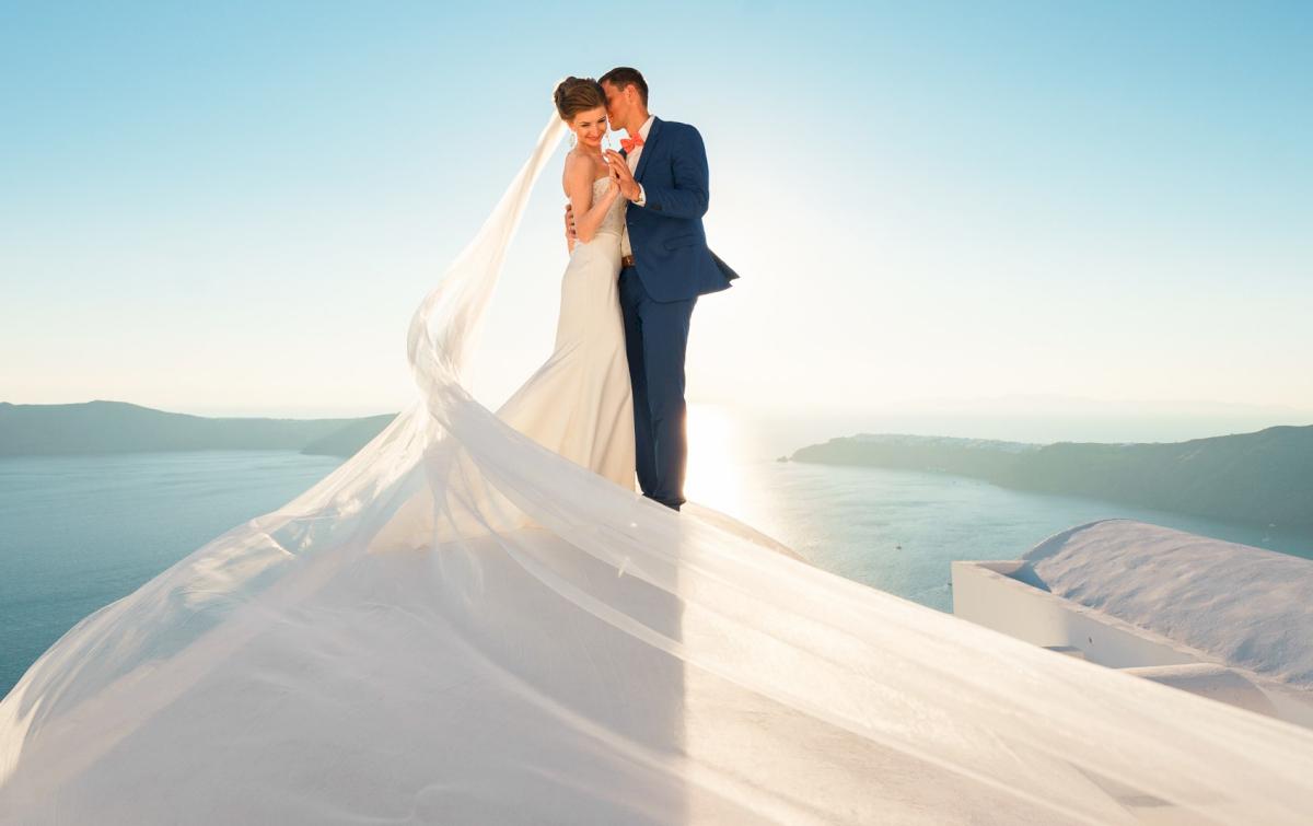 Алена и Рома: свадьба на санторини, свадебное агентство Julia Veselova - Фото 1