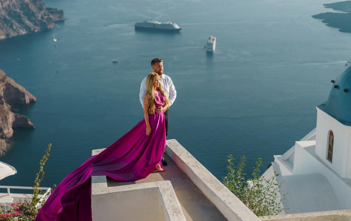 Елена и Виталик: свадьба на санторини, свадебное агентство Julia Veselova - Фото 12