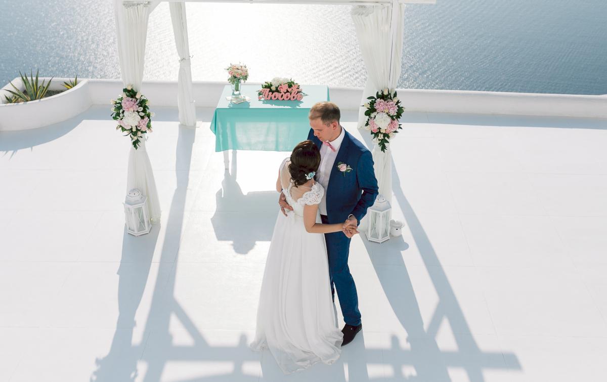 Татьяна и Леонид: свадьба на санторини, свадебное агентство Julia Veselova - Фото 6