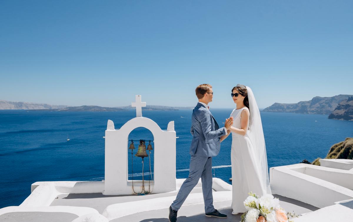 Алексей и Ольга: свадьба на санторини, свадебное агентство Julia Veselova - Фото 11