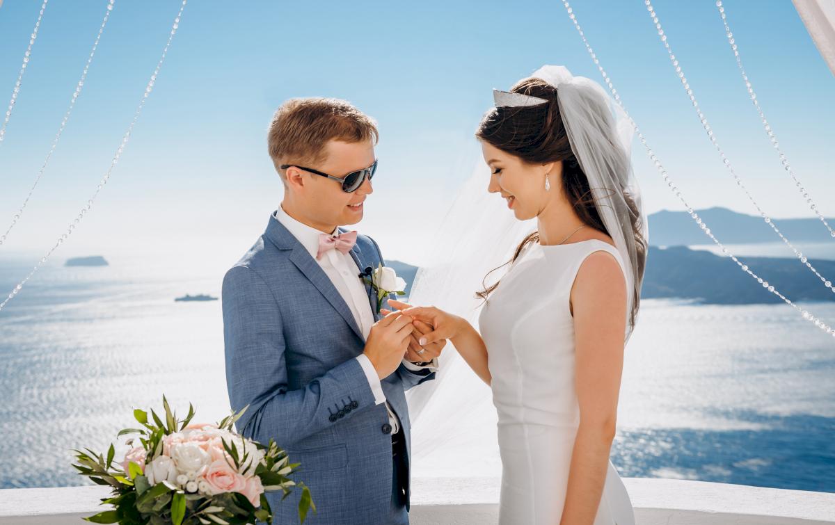 Алексей и Ольга: свадьба на санторини, свадебное агентство Julia Veselova - Фото 21