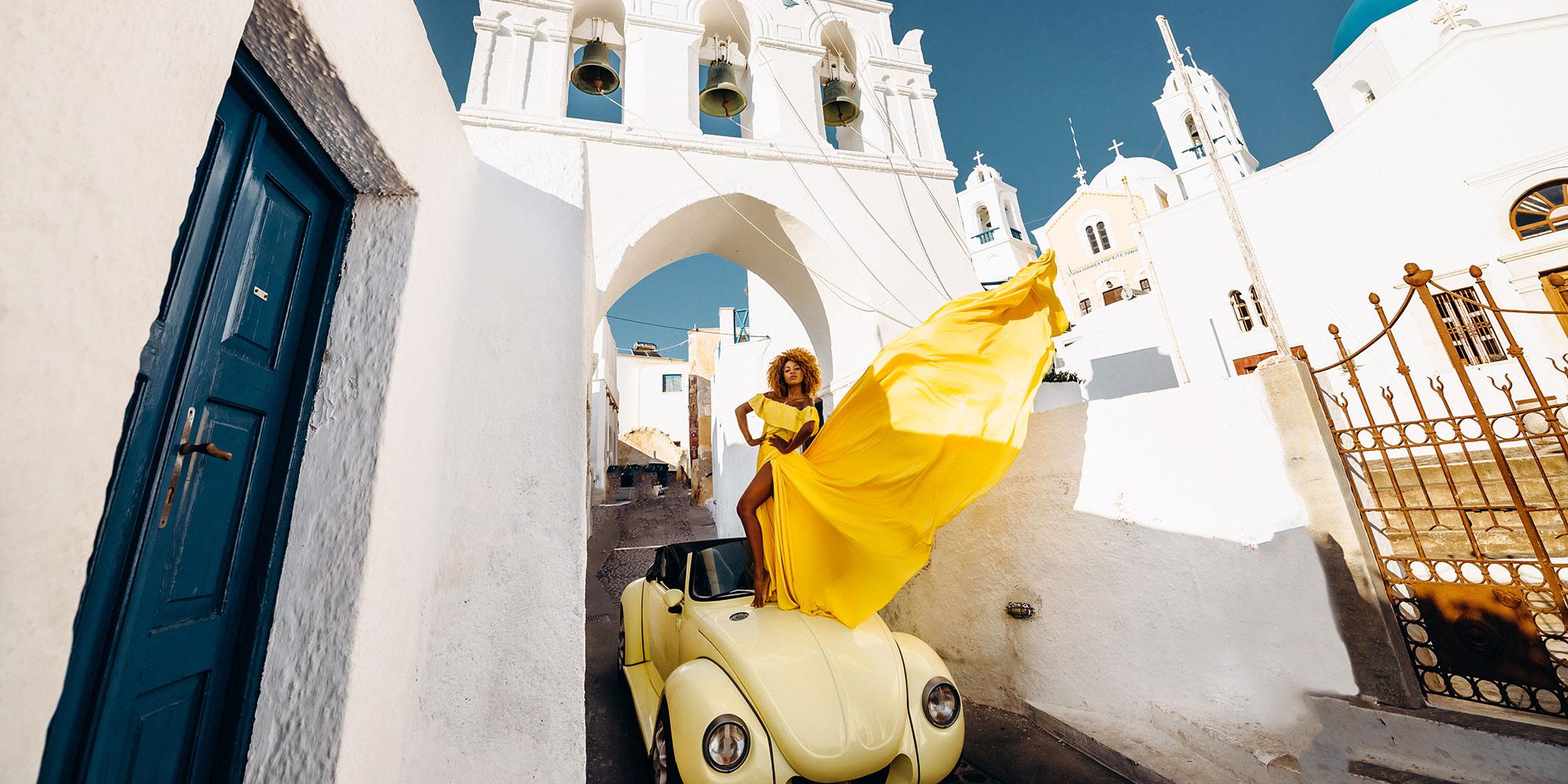 Прокат VW Beetle на Санторини