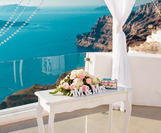 Оформление свадьбы на Санторини