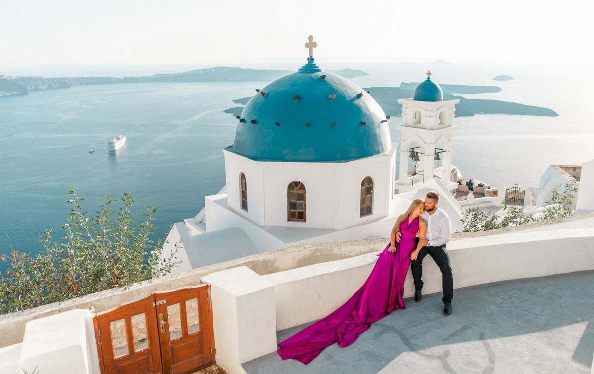 Елена и Виталик: свадьба на санторини, свадебное агентство Julia Veselova - Фото 8