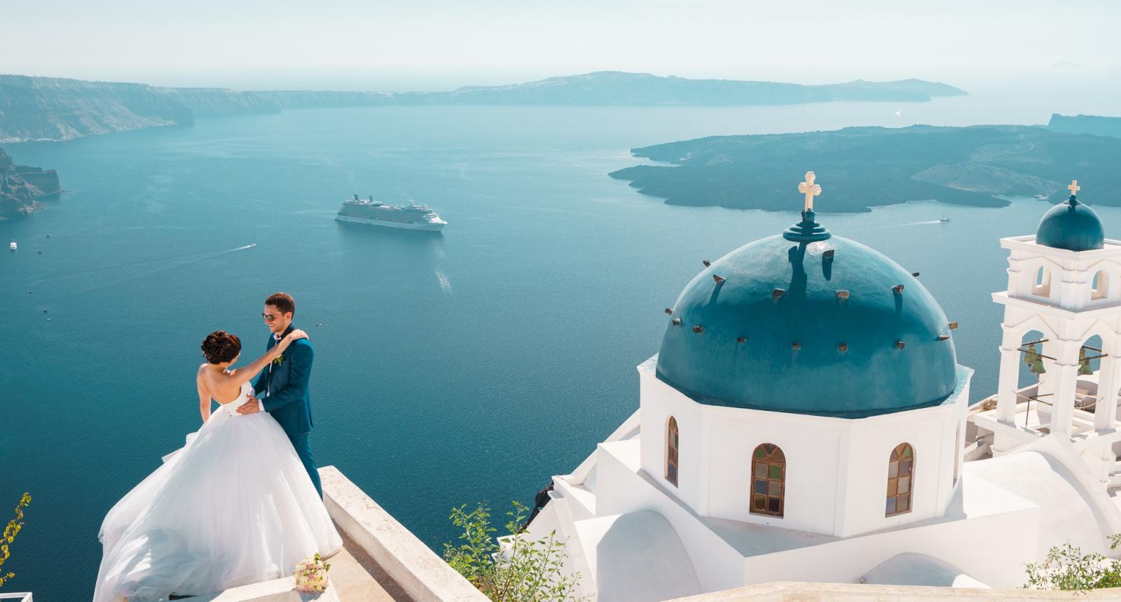 Яна и Денис: свадьба на санторини, свадебное агентство Julia Veselova - Фото 3