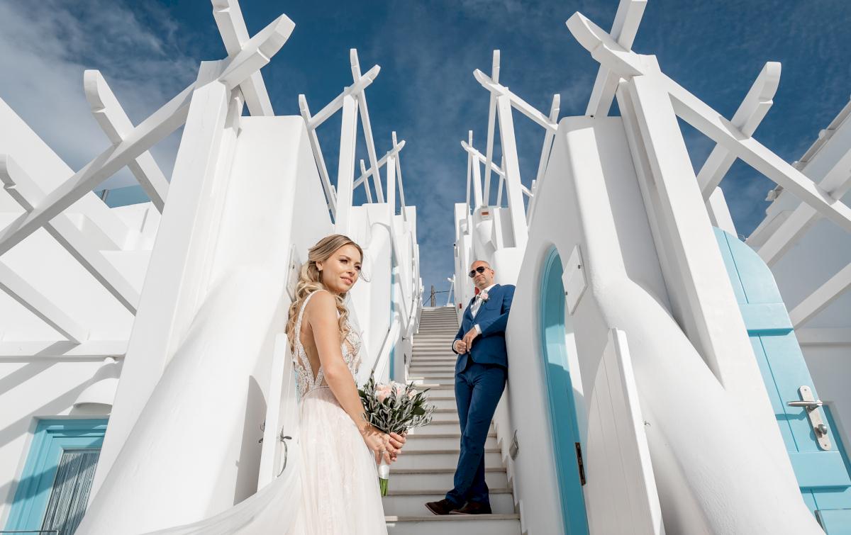 Екатерина и Артем: свадьба на санторини, свадебное агентство Julia Veselova - Фото 4