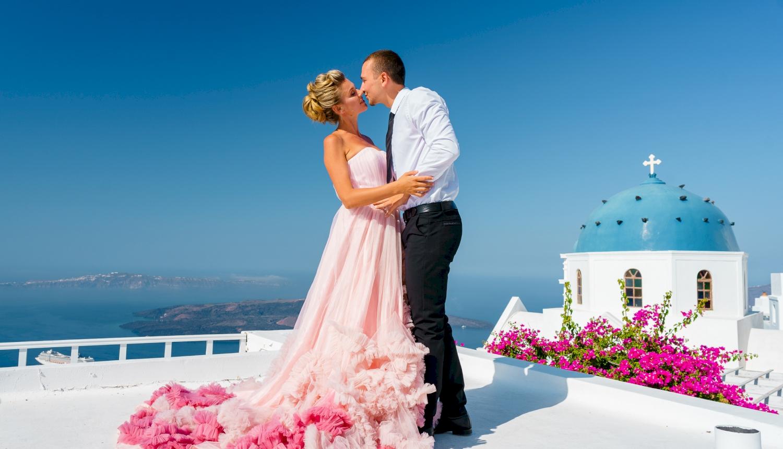 Инна и Сергей: свадьба на санторини, свадебное агентство Julia Veselova - Фото 1