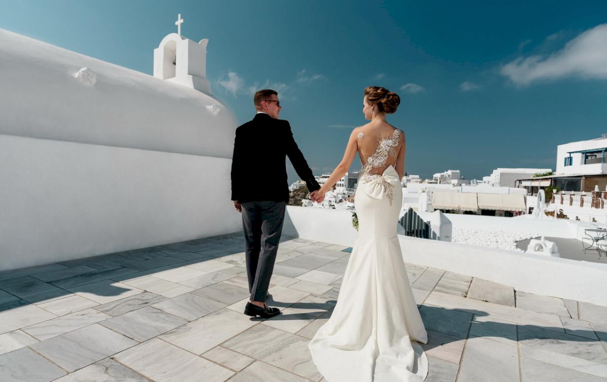 Любовь и Антон: свадьба на санторини, свадебное агентство Julia Veselova - Фото 2