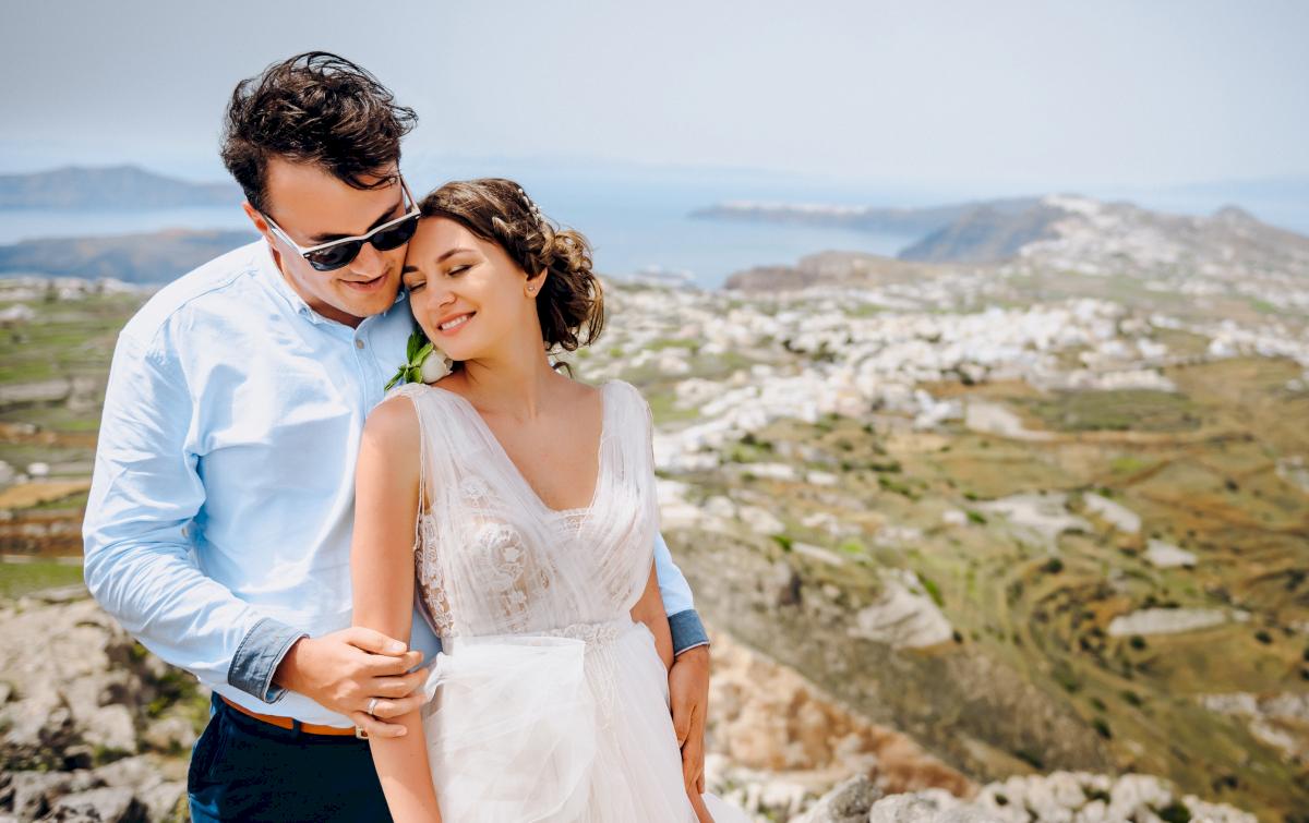 Анна и Андрей: свадьба на санторини, свадебное агентство Julia Veselova - Фото 9