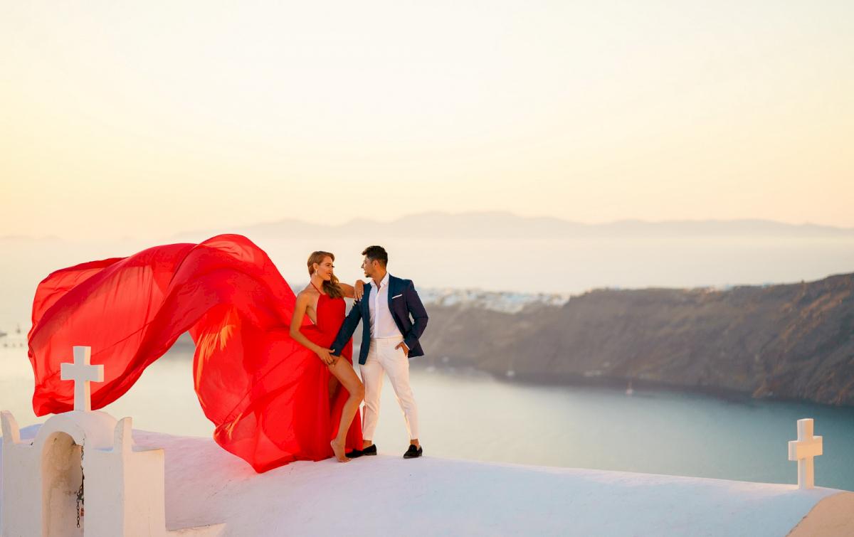Фредди и Маргарет: свадьба на санторини, свадебное агентство Julia Veselova - Фото 3