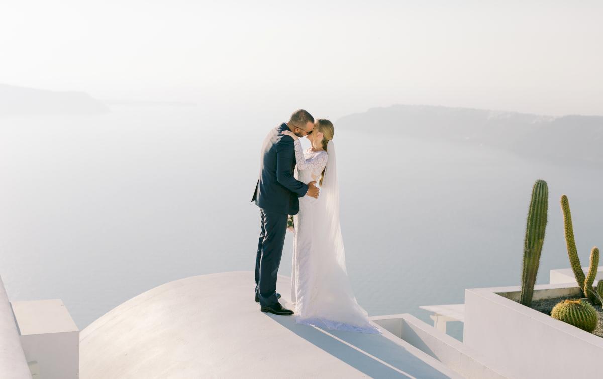 Алина и Cалех: свадьба на санторини, свадебное агентство Julia Veselova - Фото 3